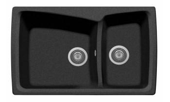 Chiuveta Plados HR0792 Ultrametal Harmony 44 Nero
