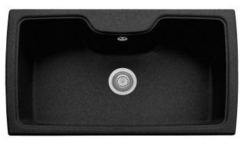 Chiuveta Plados HR0860 MicroUltragranit Harmony 95 Nero Ebony