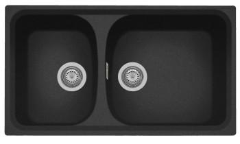 Chiuveta Plados HR0862 Ultrametal Harmony 44 Nero