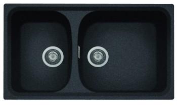 Chiuveta Plados HR0862 MicroUltragranit Harmony 95 Nero Ebony