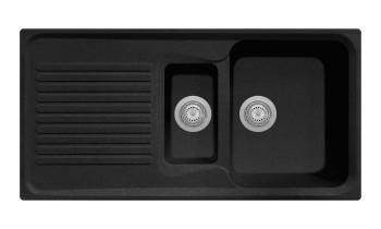 Chiuveta Plados HR0991 Ultrametal Harmony 44 Nero