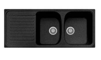 Chiuveta Plados HR1162 Ultrametal Harmony 44 Nero