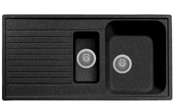 Chiuveta Plados PL0991 MicroUltragranit Atlantic 95 Nero Ebony