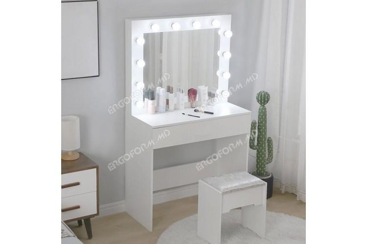 Masa machiaj (make-up) cu oglinda cu becuri Diva