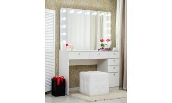 Masa de toaleta cu oglinda Ackley