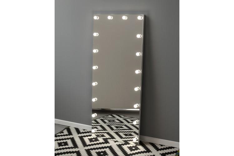 Oglinda pentru proba cu becuri pe perete 180x75 Vanity 2