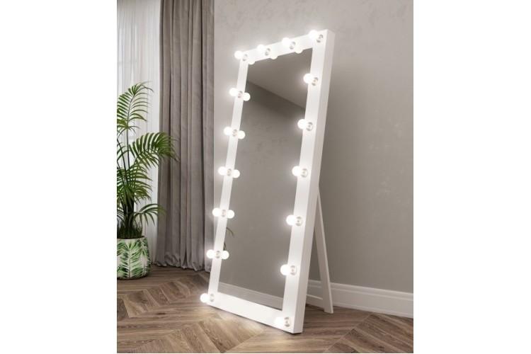 Oglinda pentru proba cu becuri pe podea 180x75 Vanity 3