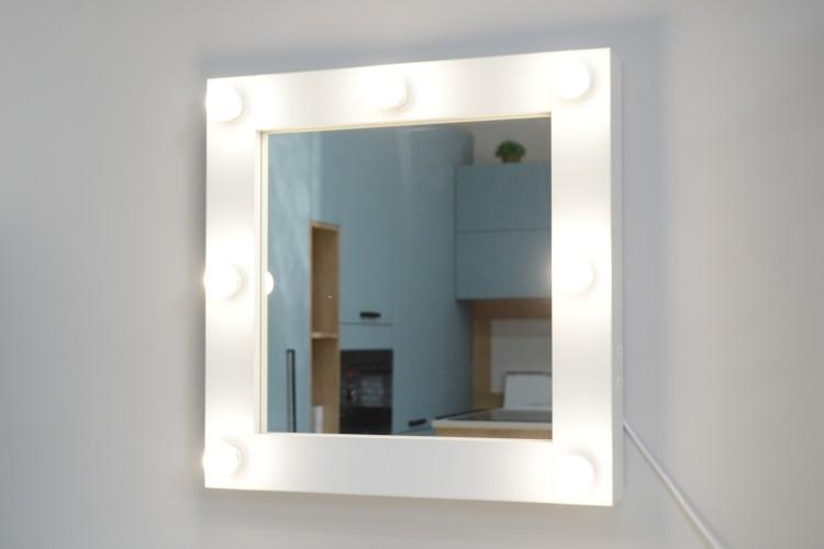 Oglinda Makeup cu becuri Vedette 60x60
