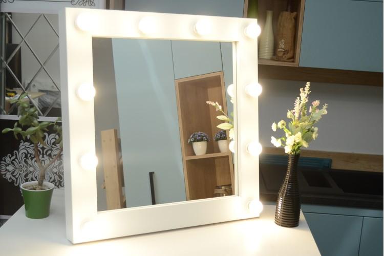 Oglinda Makeup machiaj cu becuri 70x70