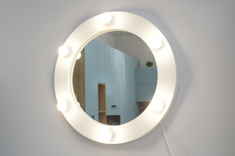 Oglinda rotunda cu becuri Moony 60