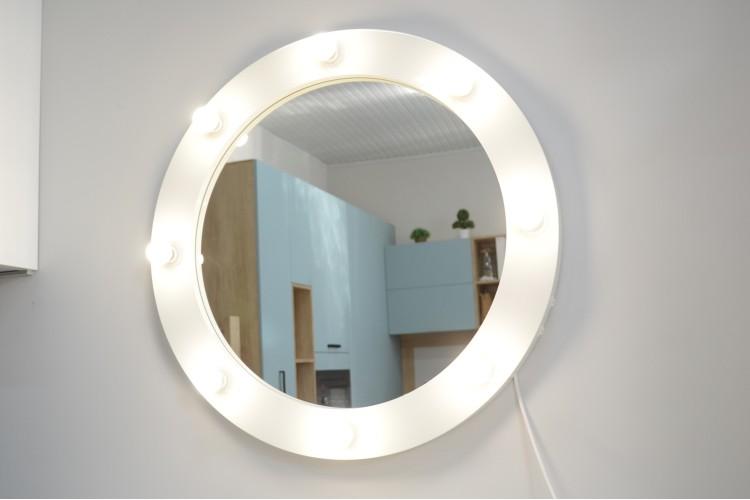 Oglinda rotunda cu becuri Moony 80