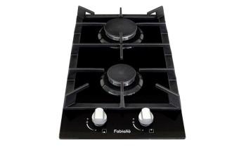 Plita pe gaz Fabiano Domino FHG 16-2 VGH Black Glass
