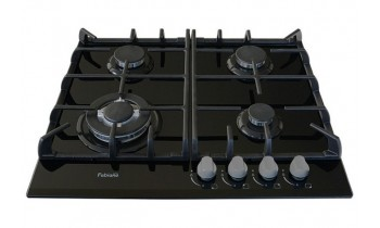 Plita pe gaz Fabiano FHG 10-44 VGH-T Black Glass